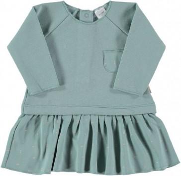 vestito-in-cotone-pima-verde-petit-oh