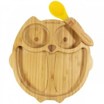 piatto-in-bamboo-eco-rascals-civetta-giallo