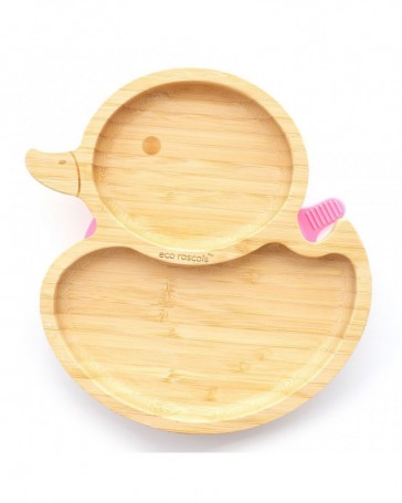 piatto-in-bamboo-eco-rascals-papera-rosa