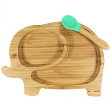 piatto-in-bamboo-per-bambini-eco-rascals-elefante-arancio