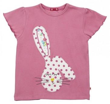 maglietta-bambina-rosa-cotone-organico-coniglietto