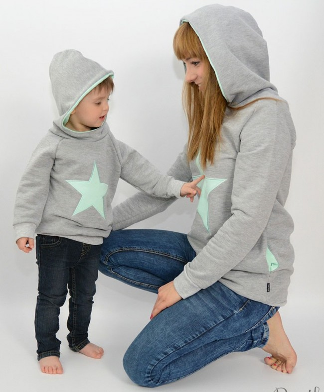 colori delicati qualità del marchio vari tipi di Felpa Mamma Figlio (Figlio) Stella Menta – Pestka