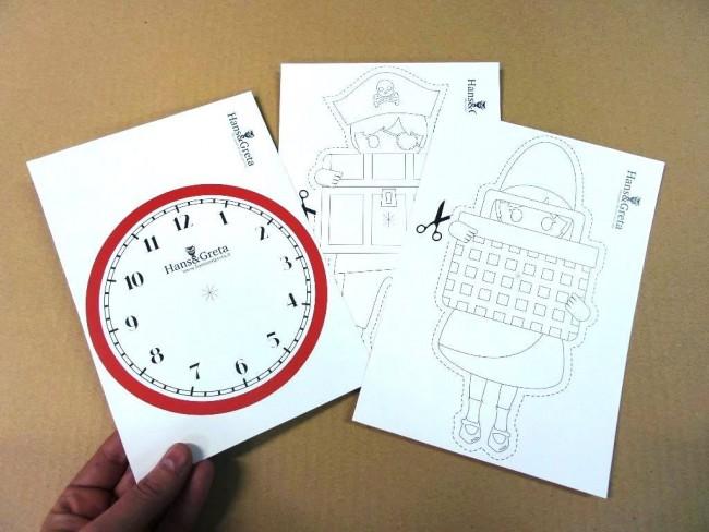 Orologio per bambini pirata favole di carta hans greta for Orologio fai da te