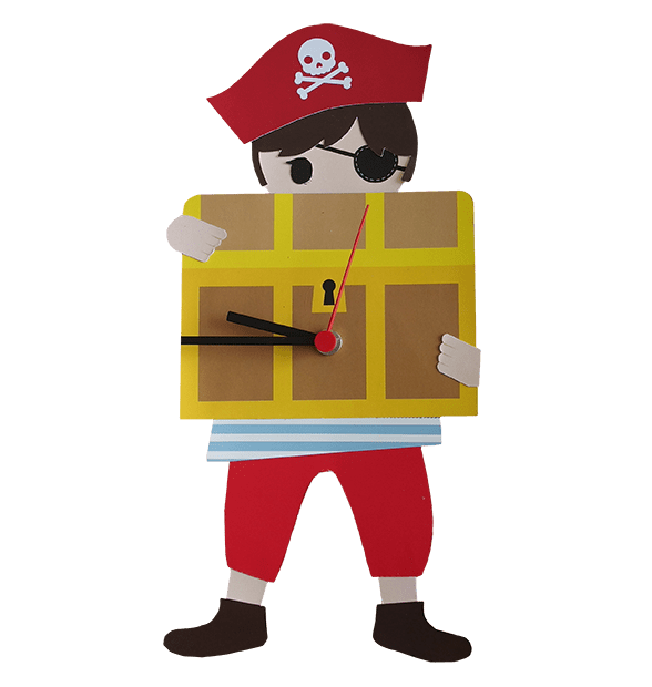 Orologio Per Bambini Pirata Favole Di Carta Hansgreta Ecococcole