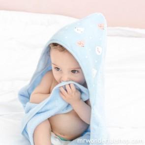 accappatoio-neonato-spugna-cotone-azzurro-mr-wonderful
