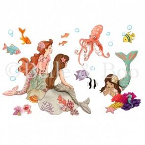 adesivi-per-pareti-bambini-sirenetta-belle-and-boo