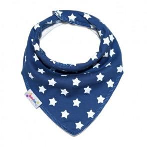 bavette-neonato-bandana-blu-stelle-dotty-fish