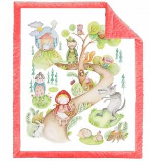 coperta-neonato-rossa-cappuccetto-rosso-blanket-story