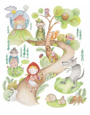 copertine-neonato-cappuccetto-rosso-blanket-story