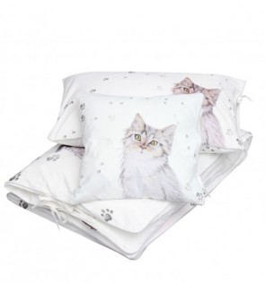 set-copripiumino-lettino-gatto-blanket-story