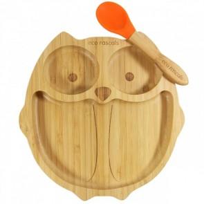piatto-in-bamboo-eco-rascals-civetta-arancio