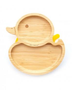piatto-in-bamboo-eco-rascals-papera-giallo