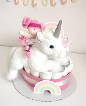 torta-di-pannolini-bambola-unicorno